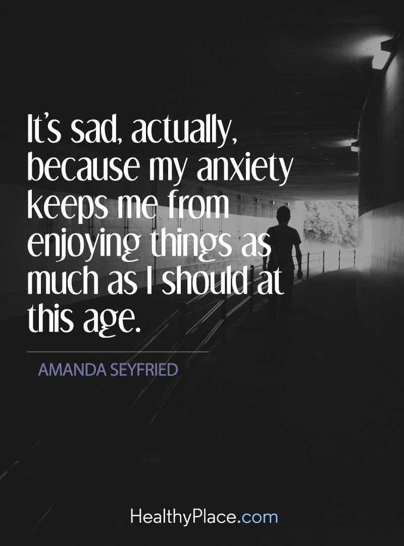 Sad Quotes About Anxiety: Quotes On Anxiety - Quotes - Insight