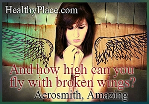 Insightful abuse quote - And how high can you fly with broken wings