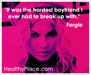 Insightful addiction quote - It was the hardest boyfriend I ever had to break up with.