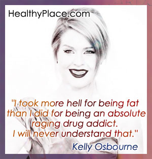 Quote on drug addiction - I took more hell for being fat than I did for being an absolute raging drug addict. I will never understand that.
