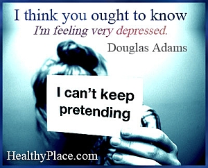 Quote on depression by Douglas Adams - I think you ought to know I'm feeling very depressed.