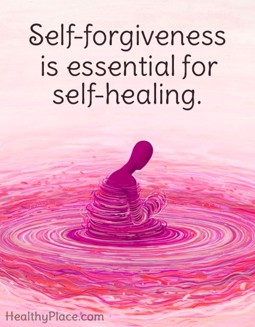 Quote on mental health - Self-forgiveness is essential for self-healing.