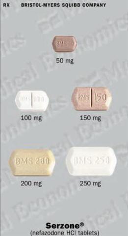 Serzone prescription
